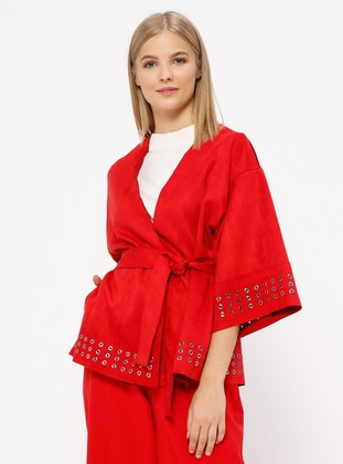 Red - Unlined - Abaya