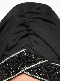 Black - Plain - Instant Scarf