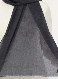 Navy Blue - Plain - Cotton - Shawl
