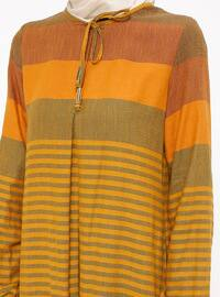 Mustard - Stripe - Crew neck - Unlined - Mustard - Stripe - Crew neck - Unlined - Dress