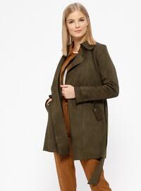 Khaki - Unlined - Shawl Collar - Trench Coat