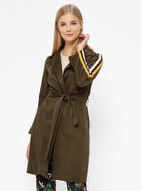 Khaki - Unlined - Trench Coat