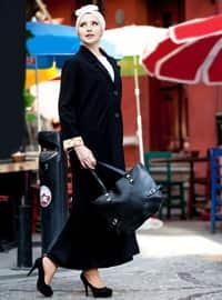 Black - Fully Lined - Shawl Collar - V neck Collar - Topcoat
