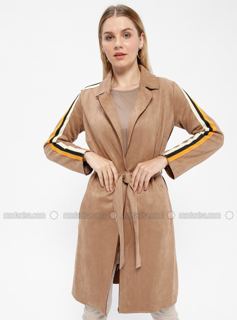 Beige - Unlined - Trench Coat
