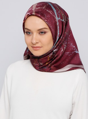 Cherry - Printed - %100 Silk - Scarf