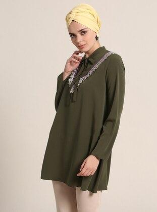 Khaki - Ethnic - Tunic