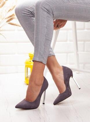 Ayakkabı Frekansı Topuklu Ayakkabı - Gri