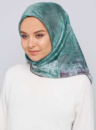 Green - Printed - Scarf