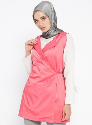 Pink - Unlined - Vest - Al Tatari