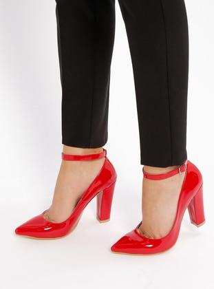 Ayakkabı Frekansı Topuklu Ayakkabı - Kırmızı