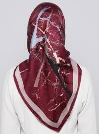 Cherry - Printed - %100 Silk - Scarf