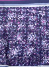 Pink - Printed - %100 Silk - Scarf