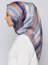 Mint - Printed - %100 Silk - Scarf