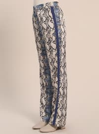 Blue - Black - Multi - Pants