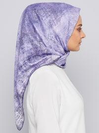 Purple - Printed - Scarf