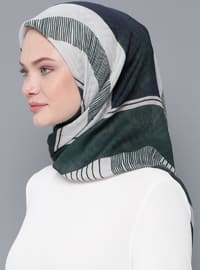 Green - Printed - Cotton - Scarf