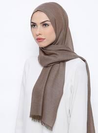 Khaki - Plain - Wool Blend - Shawl