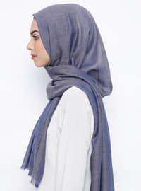 Indigo - Plain - Wool Blend - Shawl