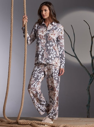 Multi - Point Collar - Floral - Pyjama