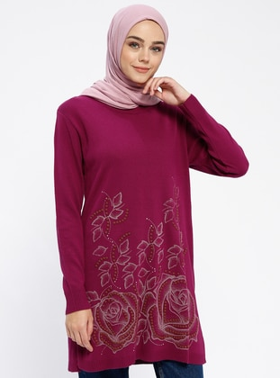 Cherry - Crew neck - Acrylic - Tunic
