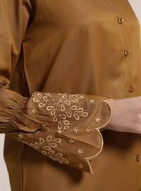 Mustard - Button Collar - Cotton - Tunic