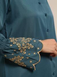Emerald - Button Collar - Cotton - Tunic
