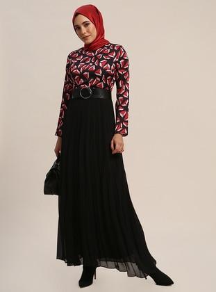 fd222fc0b40cd أحمر - أسود - ملون - قبة مدورة - نسيج مبطن - فستان