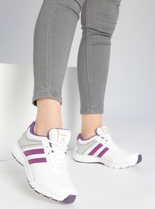 Spor Ayakkabı - Beyaz-mor - Letoon Ürün Resmi