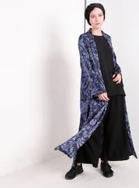 Navy Blue - Multi - Unlined - Topcoat