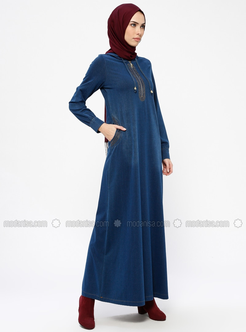 8b468fa82da Navy Blue - Indigo - Unlined - Denim - Dresses