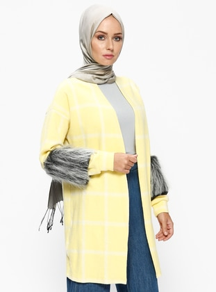 Yellow - Stripe - Cardigan