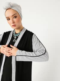 Black - Gray - Viscose - Cardigan
