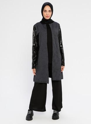 Smoke-coloured - Trench Coat