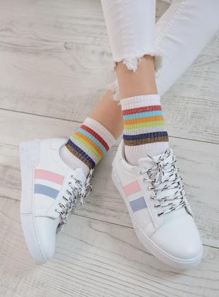 Blue - White - Powder - Sport - Sports Shoes