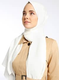 White - Plain - Shawl