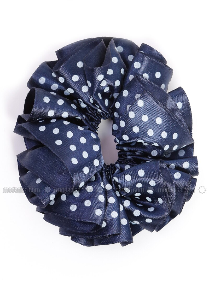 White - Navy Blue - Scarf Accessory