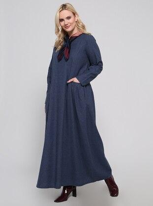 Cep Detaylı Elbise - Lacivert - Alia Ürün Resmi
