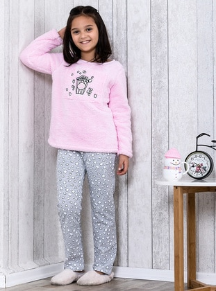 Pink - Crew neck - Multi - Kids Pijamas