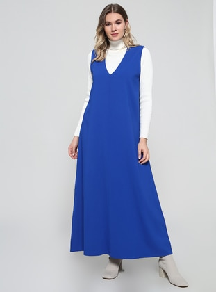 Saxe - Unlined - V neck Collar - Plus Size Dress
