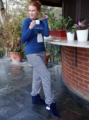 Saxe - Crew neck - Stripe - Pyjama