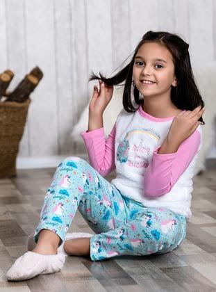 Pink - Crew neck - Multi - Kids Pijamas