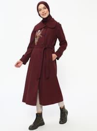 Maroon - Fully Lined - Point Collar - Topcoat