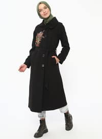 Black - Fully Lined - Point Collar - Topcoat