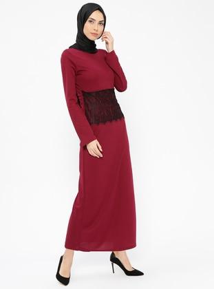Cherry - Crew neck - Unlined - Dresses