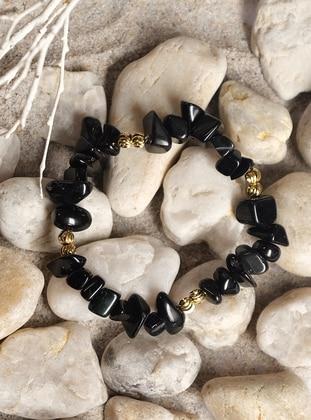 Black – Gold – Bracelet – By Geda