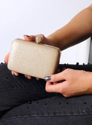 Gold - Clutch Bags / Handbags - WMİLANO