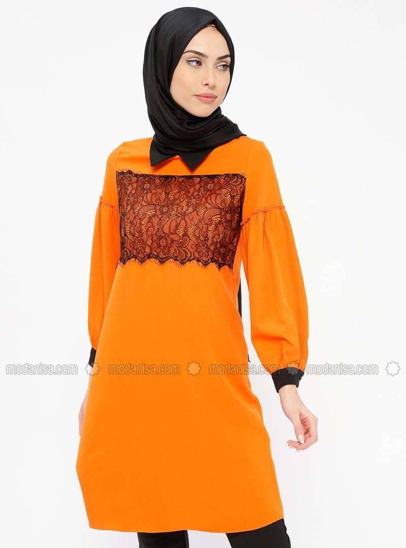 Orange - Point Collar - Tunic