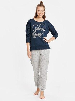 Pijama Takım - Lacivert - LC WAIKIKI Ürün Resmi