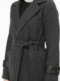 Gray - Anthracite - Unlined - Shawl Collar - Topcoat