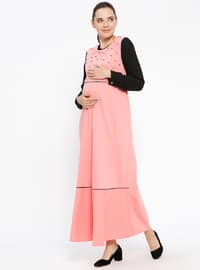 Powder - Crew neck - Unlined - Maternity Dress